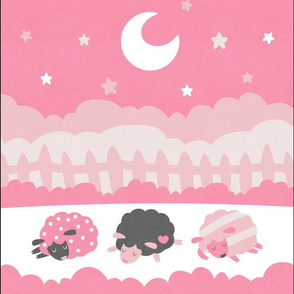 "Sleepy Sheep Blankets 13.5""x18"" Pink"