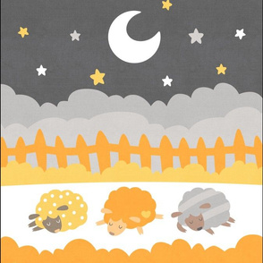 "Sleepy Sheep Blankets 13.5""x18"" Sunshine"