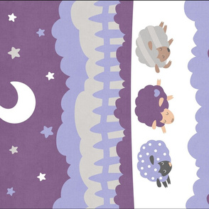 "Sleepy Sheep Blankets 18""x27"" Lavender"