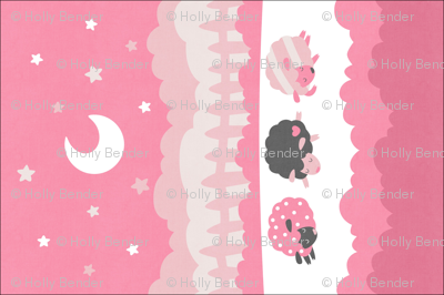 """Sleepy Sheep Blankets 18""""x27"""" Pink"""