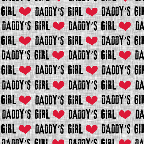 Daddy's Girl fabric by littlearrowdesign on Spoonflower - custom fabric