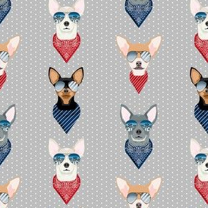 chihuahua sunglasses summer beach dog breed fabric grey