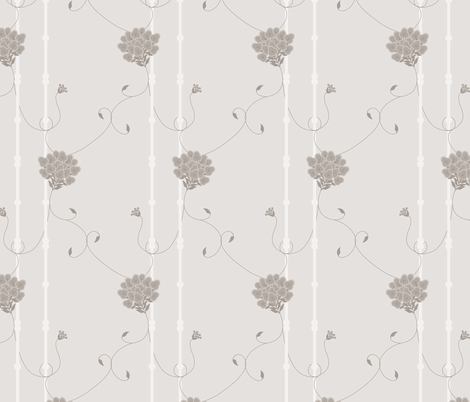Such A Wallflower: Warm Gray fabric by dept_6 on Spoonflower - custom fabric