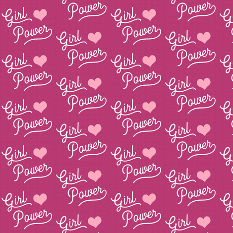 Girl Power is Pink Small fabric by brainsarepretty on Spoonflower - custom fabric