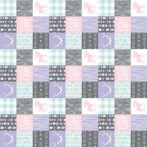 "2"" Little Lady Quilt - lilac,  mint and pink"
