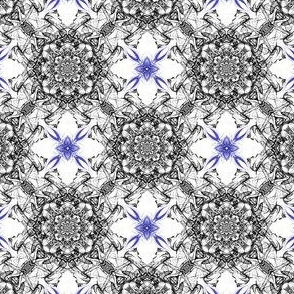 Abstract Fractal Floral Pattern