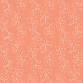 Jungle Florals (cantaloupe) - flower garden tropic summer spring wedding bridesmaid home decor
