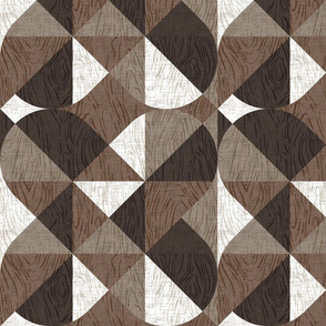 Woodgrain Geometric {Cool}