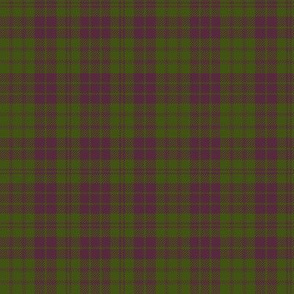 "MacRae purple/green tartan, 6"" muted"