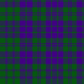 "MacRae purple/green tartan, 12"" modern"