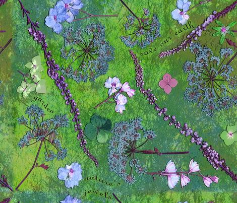 boho earth garden fabric by mypetalpress on Spoonflower - custom fabric