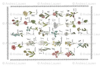 abc wildflowers tea towel linen cotton canvas nature floral
