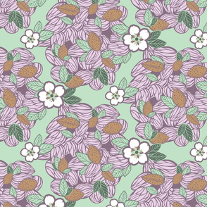 Almonds and flowers: violet