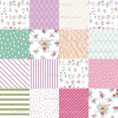 wildflower wholecloth cheater quilt botanical nursery