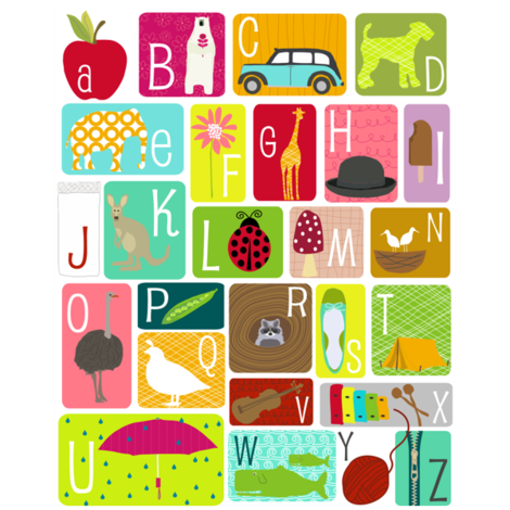 Alphabet Chart - Swatch fabric by lauriewisbrun on Spoonflower - custom fabric