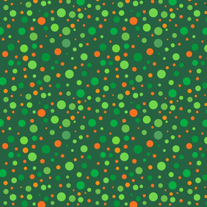 Irish Polka Dots On Green