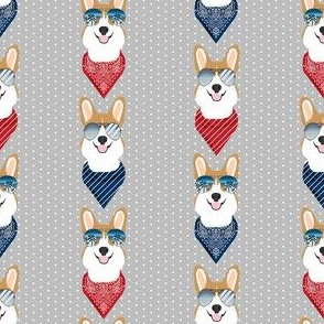 corgi sunglasses summer bandana dog breed fabric grey