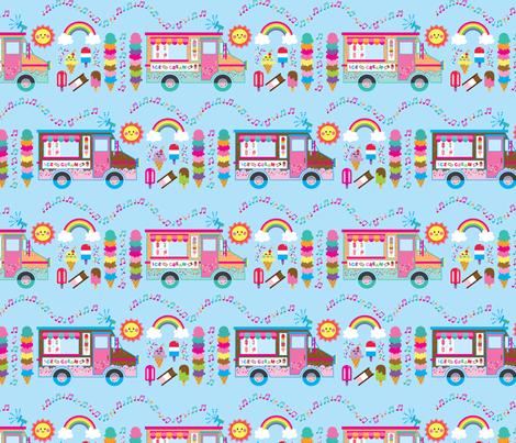 aloha ice cream truck with treats fabric by alohababy on Spoonflower - custom fabric