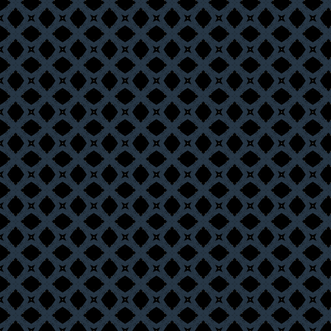 Mosaic M+M Navy Black by Friztin fabric by friztin on Spoonflower - custom fabric