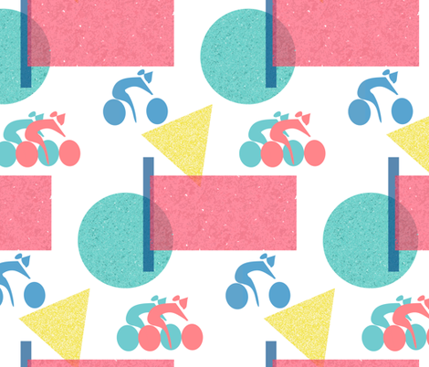 Summer Bicycles fabric by margaret_ann_missman_designs on Spoonflower - custom fabric