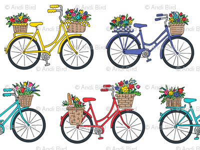 bouquet bicycles white