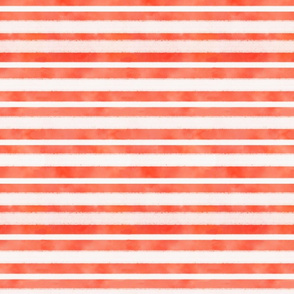 Rough Watercolor Orange & White Stripes