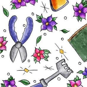 floral garden tools
