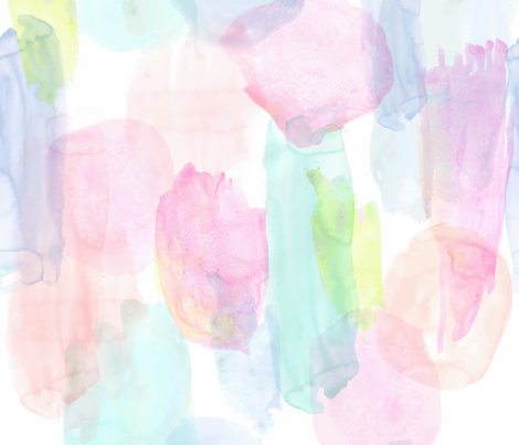 Rainbow Watercolor fabric by crystal_walen on Spoonflower - custom fabric