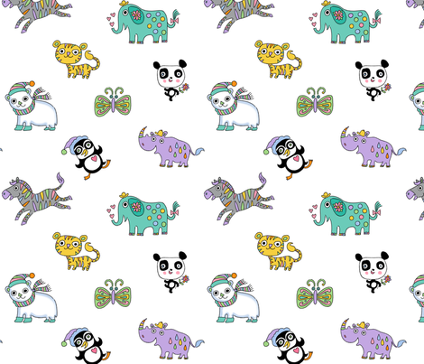 endangered critters fabric by andibird on Spoonflower - custom fabric