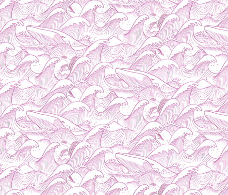 Turbulent Oceans Pink fabric by indiepixels on Spoonflower - custom fabric