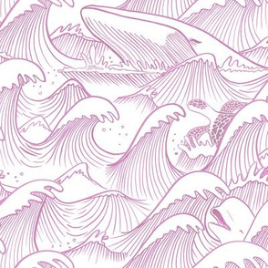 Turbulent Oceans Pink