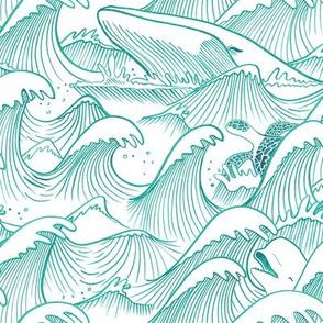 Turbulent Oceans Turquoise