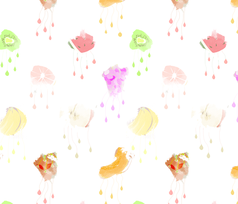 It's Raining Fruit Large fabric by little_lizzie_design on Spoonflower - custom fabric