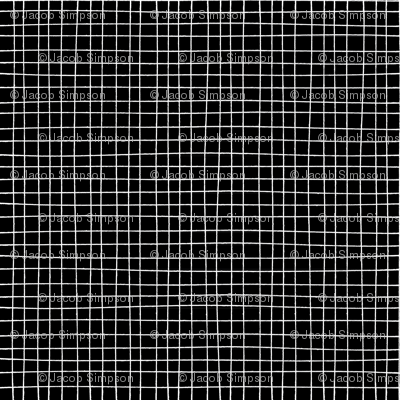 Hand Drawn Marker Grid Black