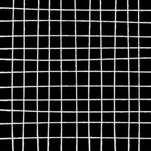 Hand Drawn Marker Grid Black
