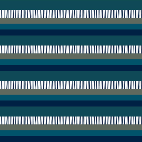 masculine navy teal khaki stripes fabric by vo_aka_virginiao on Spoonflower - custom fabric