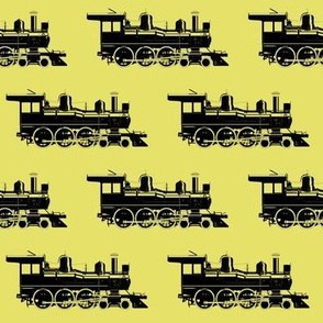 Steam Engine on Yellow // Large
