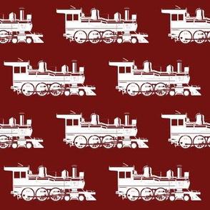 Steam Engine on Maroon // Large