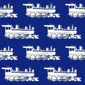 Steam Engines on Dark Blue // Large