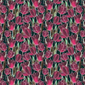 flowers pattern tulips