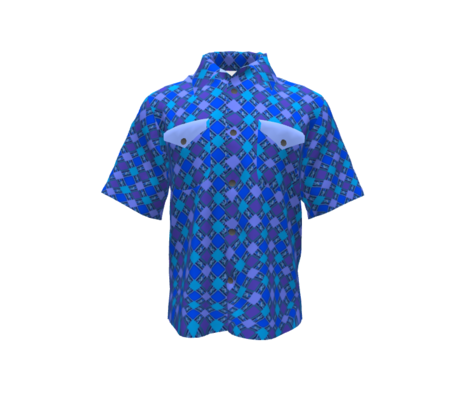BN8 - MED - Cheater Quilt  Crosshatch Texture in Blue - Lavender -Purple