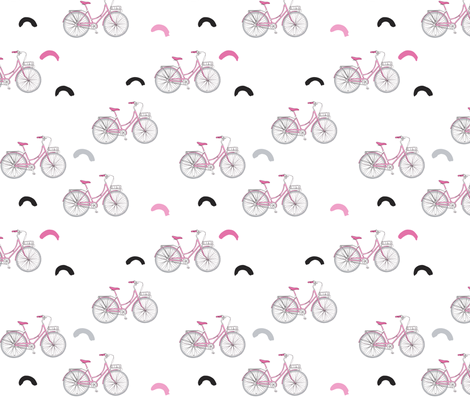 Let's Go Ride A Bike fabric by how-store on Spoonflower - custom fabric