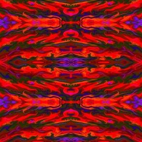Fiery flows & swirlies