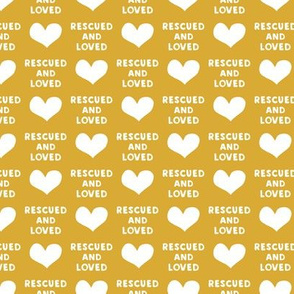 rescued and loved - gold