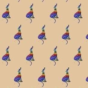 "Rainbow Hound Sitting-1.5"" martingale"