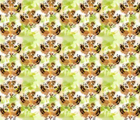 Eye of the Tiger Small fabric by little_lizzie_design on Spoonflower - custom fabric