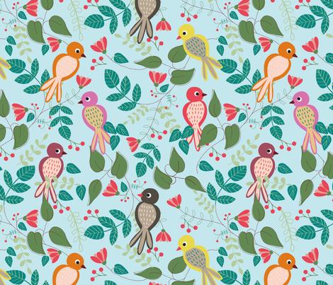 Let's chirp! fabric by gkumardesign on Spoonflower - custom fabric