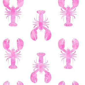 pink lobster fabric