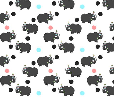 Black Rhino fabric by how-store on Spoonflower - custom fabric