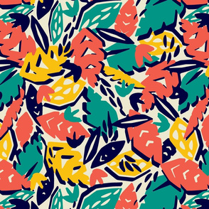 Cut Paper Tropic (Warm Colorway)